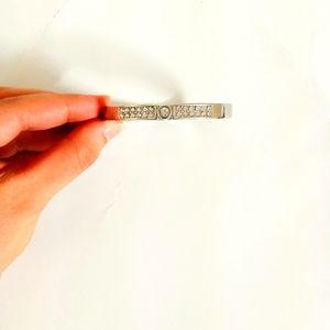 EXPRESS silvertone studded bracelet with clasp